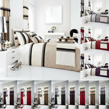Luxury PANAMA Duvet Cover Sets Fully Lined Curtains Cushion Covers Panels
