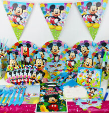Mickey Mouse Clubhouse Birthday Party SET RANGE Plates Napkins Cups Tablecover