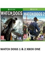 Watch Dogs 1 & 2 Xbox one Excellent - 1st Class Delivery