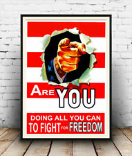Are you doing all you can ? , Vintage advertising poster reproduction.