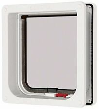 Pet Mate Cat Mate bloccabile Gattaiola Porta - Bianco, Marrone 234