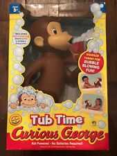NIB CURIOUS GEORGE Tub Time Bubble Blowing Doll — RARE — NEW IN BOX