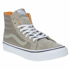New Womens Vans Khaki Green Sk8-Hi Suede Trainers Hi Top Lace Up Zip