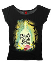 Beauty & THE BEAST BONITO is found Within Camisa de la muchacha BLACK