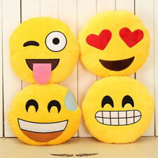 32cm Creative Emoji Pillow Soft Stuffed Plush Toy Doll Round Emoticon Cushion