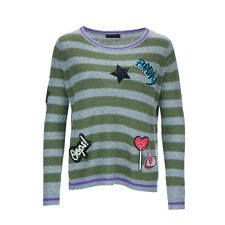 PRINCESS GOES HOLLYWOOD Damen Pullover - Patches with Stripes Gr. 36-44 Neu