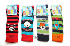 NEW! Boys/Kids/Childrens Welly Socks,Character,Striped,size 6-8.5,Christmas Gift