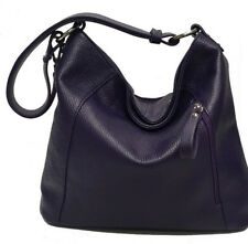 borsa donna in vera pelle made in italy nuova tracolla sacca bag leather nero