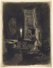 Still Life With Candle Albert Lebourg French 1849 1928 1870 Vintage Art Poster/