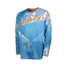 Scott 350 Race Kids Kinder MX Motocross Jersey / DH Fahrrad Trikot blau/orange 2