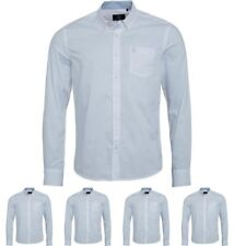 DI MODA Duck and Cover Mens Emblem Long Sleeve Oxford Shirt White Small Chest 3