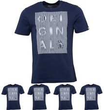 BRANDS Original Penguin Mens Original Displaced Stripes T-Shirt Dress Blue Smal