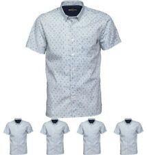DI MODA Duck and Cover Mens Jacobs Short Sleeve Shirt White Small Chest 36-38""