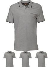 BRANDS Ben Sherman Mens Short Sleeve 2B Tipped Pique Polo Grey Marl Small Chest