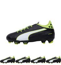 NEW Puma Junior evoTOUCH 3 FG Football Boots Black/White/Safety Yellow 3