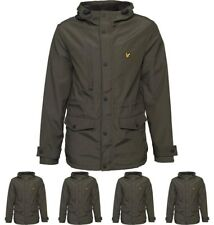 BRAND Lyle And Scott Vintage Mens Microfleece Lined Jacket Dark Sage X-Small Ch