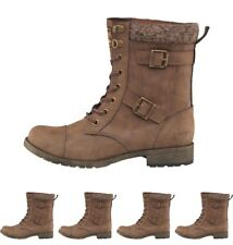 BRANDS Rocket Dog Womens Billie Heirloom Lace Up Buckle Boots Brown UK 3 Euro 36