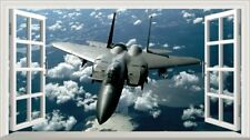 McDonnell Douglas F-15 Eagle Jet Fighter Magic Window Wall Art Adhesive Poster*