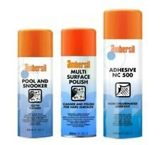 AMBERSIL POOL AND SNOOKER TABLE CLOTH CLEANER/ ADHESIVE/ MULTI SURFACE POLISH