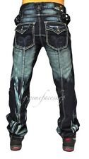 peviani Bar Jeans, Hip Hop Time Is Money Urban Herren, Zoll star-rock Denim Blau