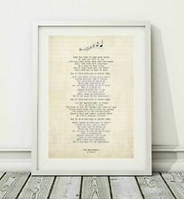 450 Oasis - The Masterplan - Song Lyric Art Poster Print - Sizes A4 A3