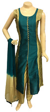 Indian Pakistani Taffeta Raw Silk Trouser Suit Stitched Shalwar Kameez Salwar