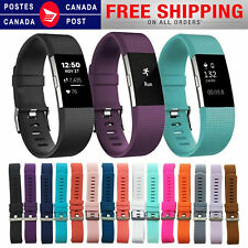 FOR Fitbit CHARGE 2 Replacement Silicone Rubber Band Strap Wristband Canada