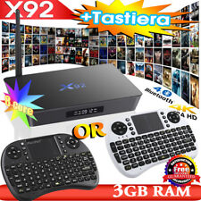 X92 Smart TV Box 32GB/16GB ROM 2GB/3GB Android Media Game Octa Core Mini Clavier