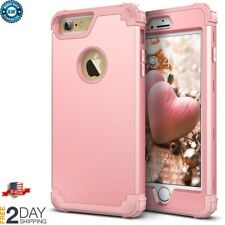 iPhone 6 6S Plus Case Full Body Protective Cover Shockproof Bumper Rose Gold New