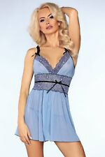 LIVCO CORSETTI Isidora Luxury Super Soft Babydoll and Matching G-String Set
