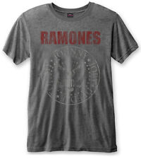 RAMONES' Red Logo SEAL 'Burnout T-shirt - NUOVO E ORIGINALE