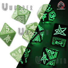 DADI set 7 per gioco di ruolo CALL OF CTHULHU Official dice Q workshop D&D RPG