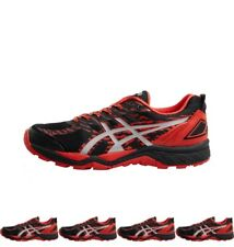 NEW Asics Mens Gel Fuji Trabuco 5 Stability Trail Running Shoes Black/Vermillio