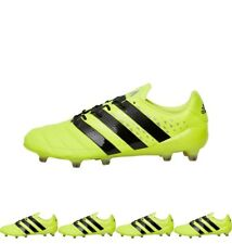 OFFERTA adidas Mens ACE 16.1 FG Leather Football Boots Solar Yellow/Core Black/