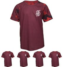 OFFERTA DFND London Boys Ramsden Contrast Sleeve T-Shirt Burgundy Age 5-6 Years