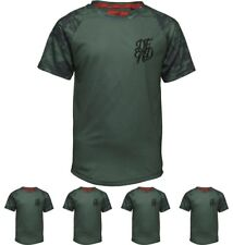 OFFERTA DFND London Boys Bonus Contrast Sleeve T-Shirt Khaki Age 5-6 Years 110c