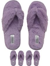 DI MODA Brave Soul Womens Fluffy Slippers Lilac UK 4-5 Euro 37-38