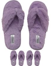 OFFERTA Brave Soul Womens Fluffy Slippers Lilac UK 4-5 Euro 37-38
