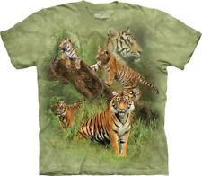 """The Mountain Kinder T-Shirt """"Wild Tiger Collage"""""""