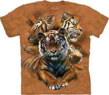 """The Mountain Kinder T-Shirt """"Resting Tiger Collage"""""""