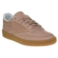 New Womens Reebok Nude Pink Club C 85 Fbt Leather Trainers Court Lace Up
