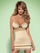 """Carmelove chemise & thong by Obsessive Lingerie """" Perfect Gift """" Size S to XXL"""