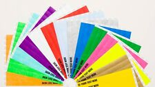 "20 Custom Printed 3/4"" Tyvek Paper Wristbands for Events,Festivals,Parties"