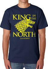 Game Of Thrones King In The North Navy Men Printed T-shirt