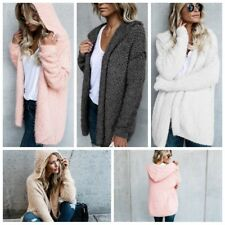 Womens Long Sweater Winter Autumn Outwear Casual Hooded Sweatshirts Tops Coat
