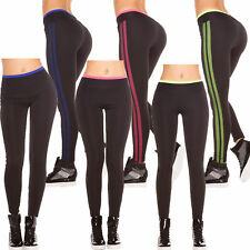 Sport Leggings Fitness Leggins Active Treggins Jersey Pants Mesh Tights S 34 36