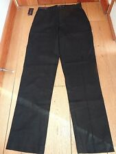 POLO RALPH LAUREN BLACK SUFFIELD CLASSIC CHINO PANTS TROUSERS SIZE 30 WAIST 34 L