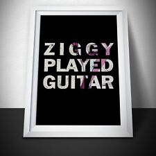 David Bowie Ziggy Painting Print. David Bowie Poster. David Bowie Gift