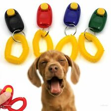 Dog Pet Puppy Cat Training Clicker Obedience Aid Wrist Click Button Trainer