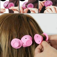 10x Silicone Magic Hair Curlers Formers Styling Rollers No Clip DIY Curling Tool
